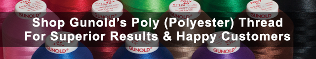 Shop Gunold's Poly (Polyester) Thread For Superior Results & Happy Customers