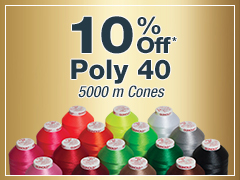 October Special - 10% Off Poly 40 5000m Cones