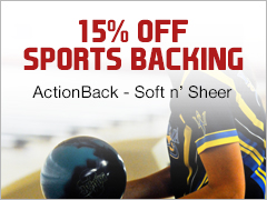 March Special - 15% Off Sports Backing