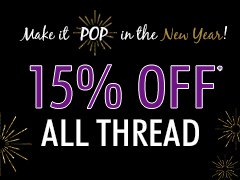 January Special 15% Off All Thread