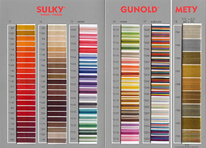 Thread Color Card